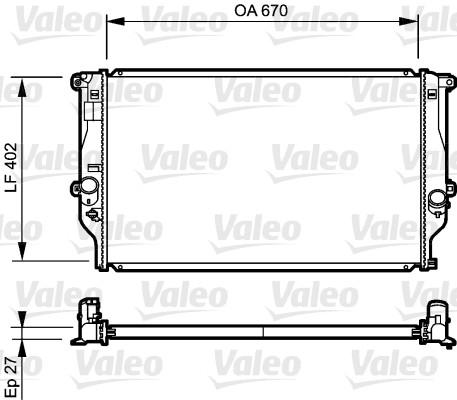 Radiateur, refroidissement du moteur - VALEO - 735216
