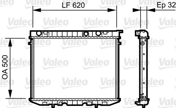 Radiateur, refroidissement du moteur - VALEO - 735229