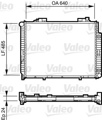 Radiateur, refroidissement du moteur - VALEO - 735231
