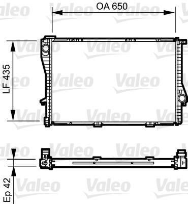 Radiateur, refroidissement du moteur - VALEO - 735233