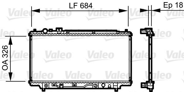 Radiateur, refroidissement du moteur - VALEO - 735236