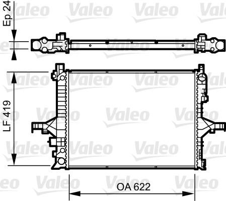 Radiateur, refroidissement du moteur - VALEO - 735237