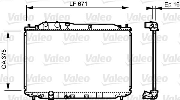 Radiateur, refroidissement du moteur - VALEO - 735238