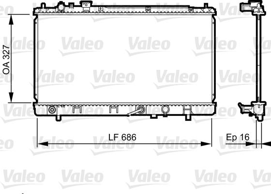 Radiateur, refroidissement du moteur - VALEO - 735240