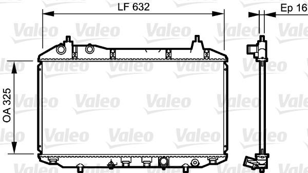 Radiateur, refroidissement du moteur - VALEO - 735241