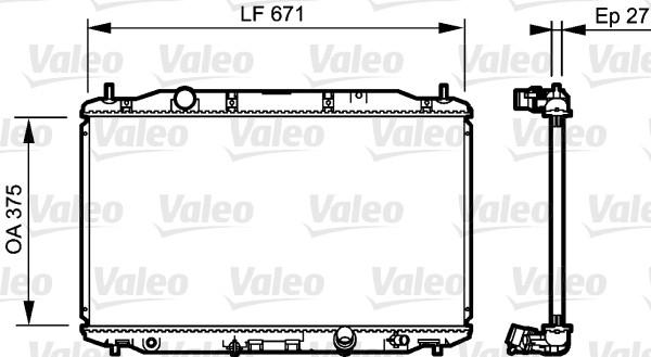 Radiateur, refroidissement du moteur - VALEO - 735242