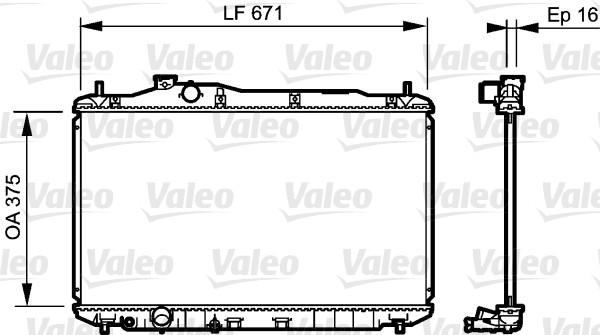 Radiateur, refroidissement du moteur - VALEO - 735243