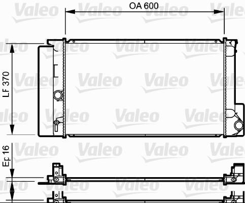 Radiateur, refroidissement du moteur - VALEO - 735250
