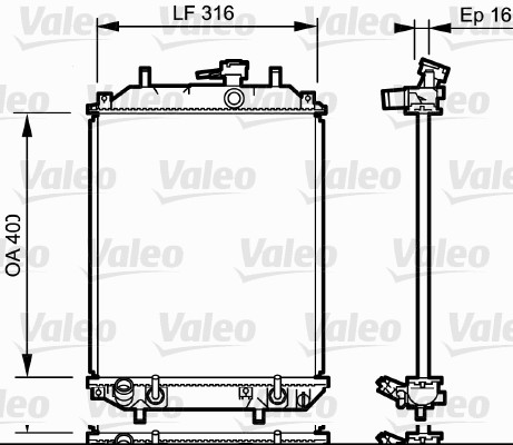 Radiateur, refroidissement du moteur - VALEO - 735257