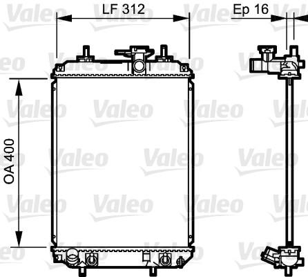 Radiateur, refroidissement du moteur - VALEO - 735259