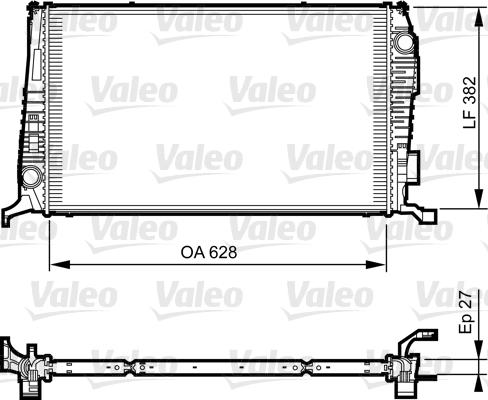 Radiateur, refroidissement du moteur - VALEO - 735279