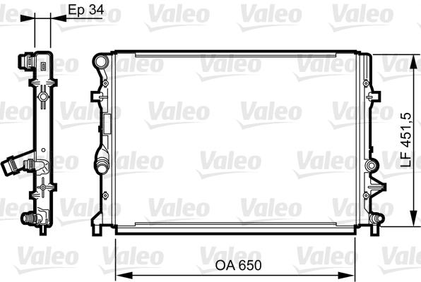 Radiateur, refroidissement du moteur - VALEO - 735280