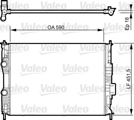 Radiateur, refroidissement du moteur - VALEO - 735281