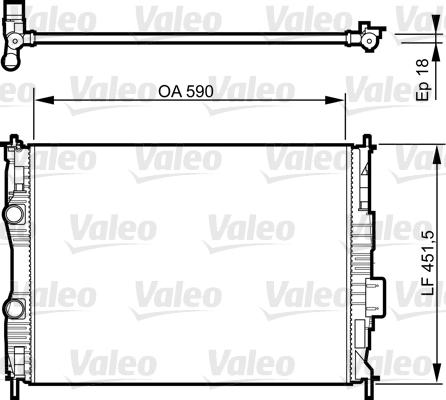 Radiateur, refroidissement du moteur - VALEO - 735282