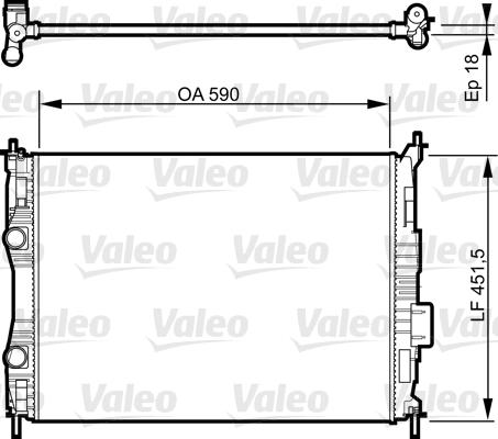 Radiateur, refroidissement du moteur - VALEO - 735283