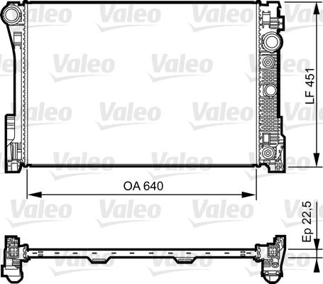 Radiateur, refroidissement du moteur - VALEO - 735285