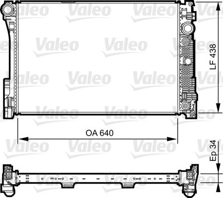 Radiateur, refroidissement du moteur - VALEO - 735292