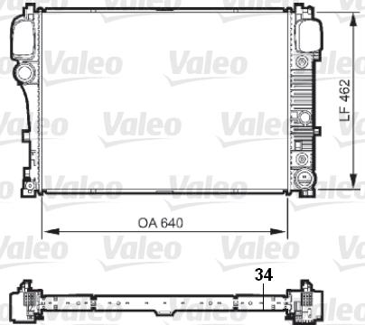 Radiateur, refroidissement du moteur - VALEO - 735299