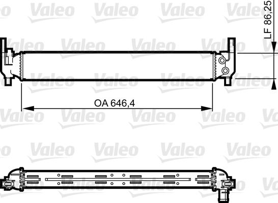 Radiateur, refroidissement du moteur - VALEO - 735310