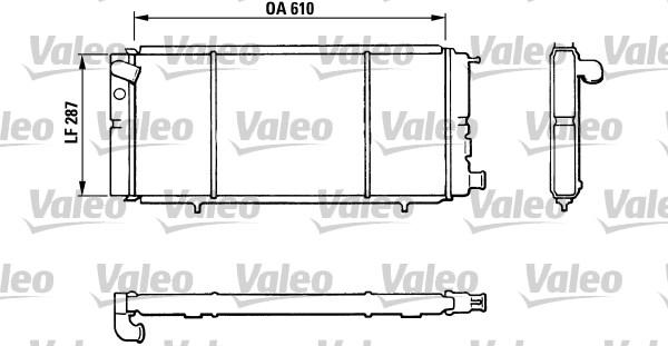 Radiateur, refroidissement du moteur - VALEO - 810827