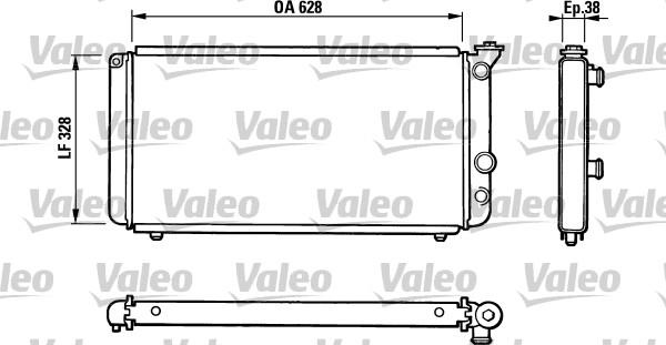 Radiateur, refroidissement du moteur - VALEO - 810835