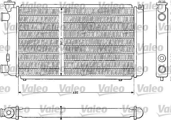 Radiateur, refroidissement du moteur - VALEO - 810843