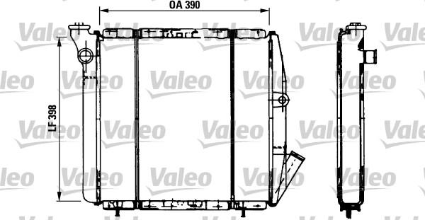 Radiateur, refroidissement du moteur - VALEO - 810851