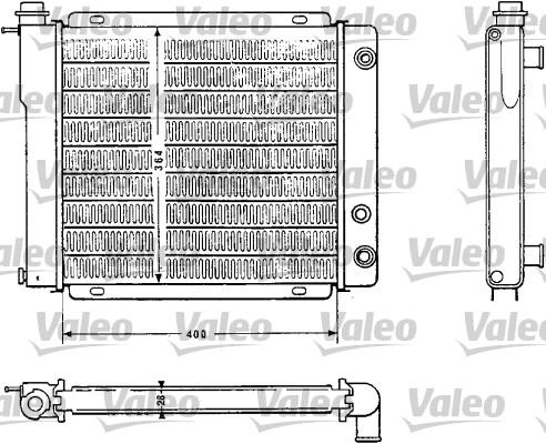Radiateur, refroidissement du moteur - VALEO - 810882