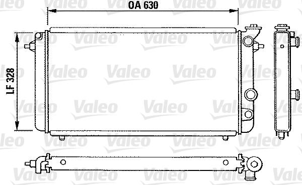 Radiateur, refroidissement du moteur - VALEO - 810889
