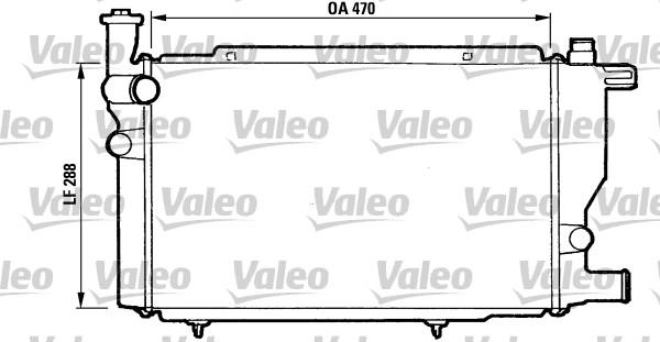 Radiateur, refroidissement du moteur - VALEO - 810892