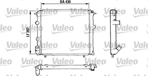 Radiateur, refroidissement du moteur - VALEO - 810912