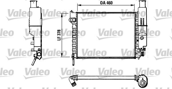 Radiateur, refroidissement du moteur - VALEO - 810915