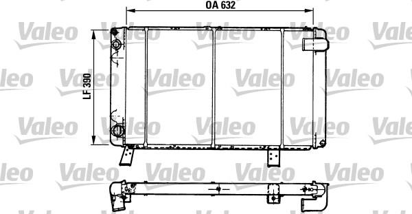 Radiateur, refroidissement du moteur - VALEO - 810918