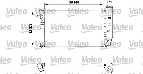 Radiateur, refroidissement du moteur - VALEO - 810919