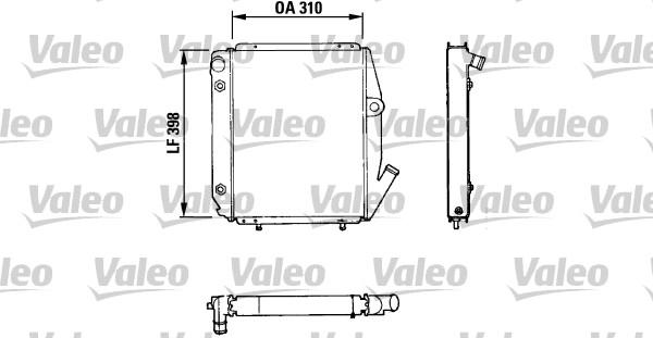 Radiateur, refroidissement du moteur - VALEO - 810926