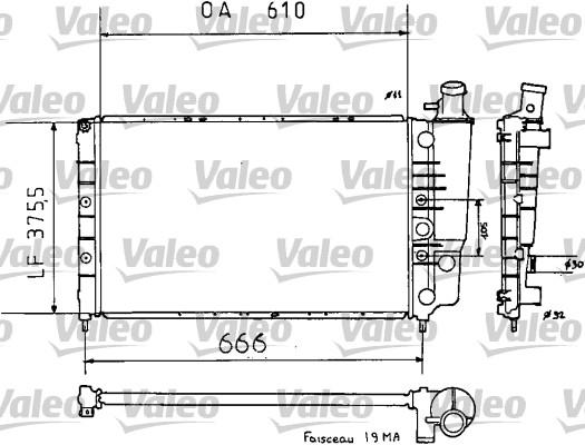 Radiateur, refroidissement du moteur - VALEO - 810938