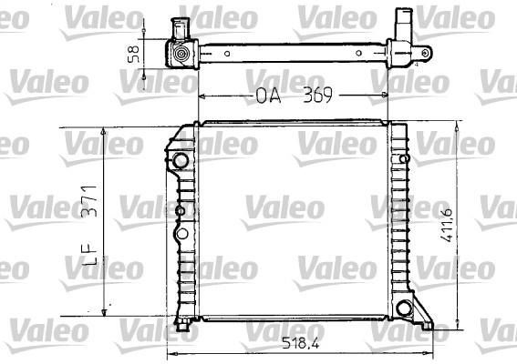 Radiateur, refroidissement du moteur - VALEO - 810956
