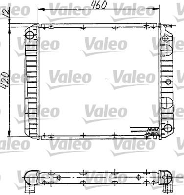 Radiateur, refroidissement du moteur - VALEO - 810968