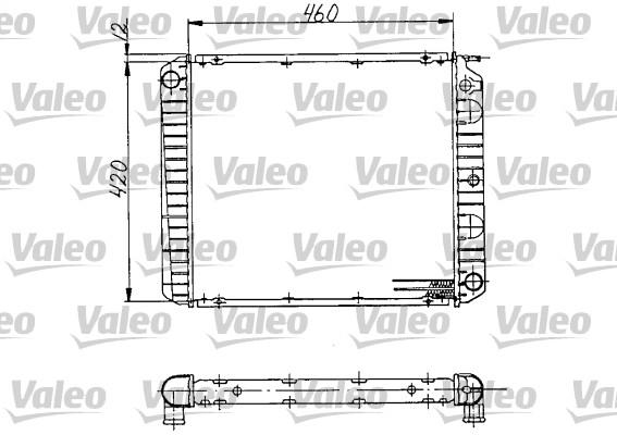 Radiateur, refroidissement du moteur - VALEO - 810970