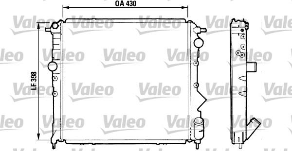 Radiateur, refroidissement du moteur - VALEO - 810995