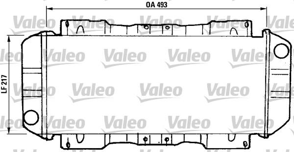 Radiateur, refroidissement du moteur - VALEO - 811046