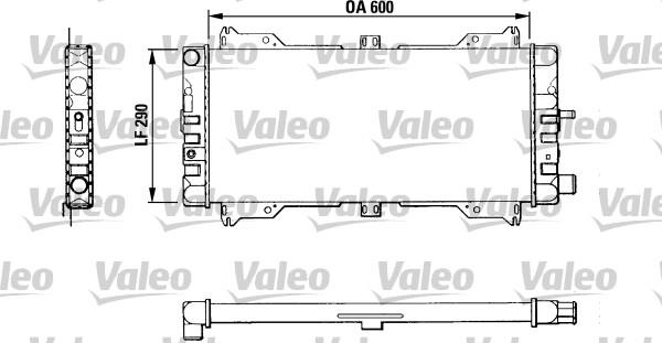 Radiateur, refroidissement du moteur - VALEO - 811047