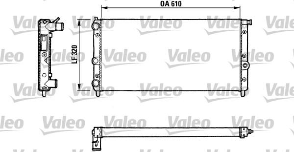 Radiateur, refroidissement du moteur - VALEO - 811067