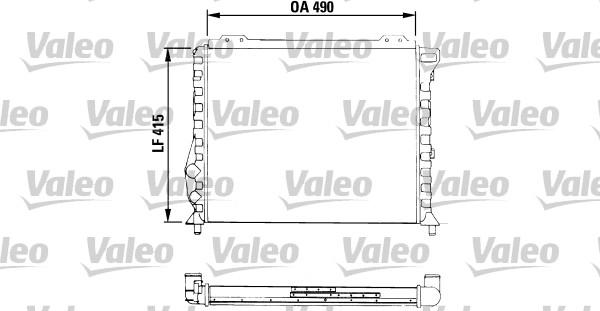 Radiateur, refroidissement du moteur - VALEO - 811068