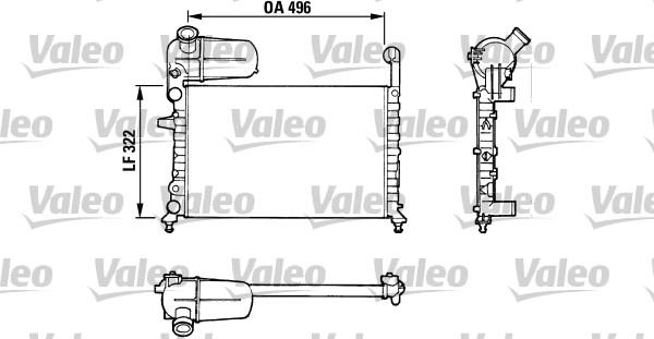 Radiateur, refroidissement du moteur - VALEO - 811070