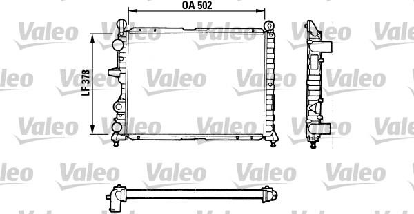 Radiateur, refroidissement du moteur - VALEO - 811071