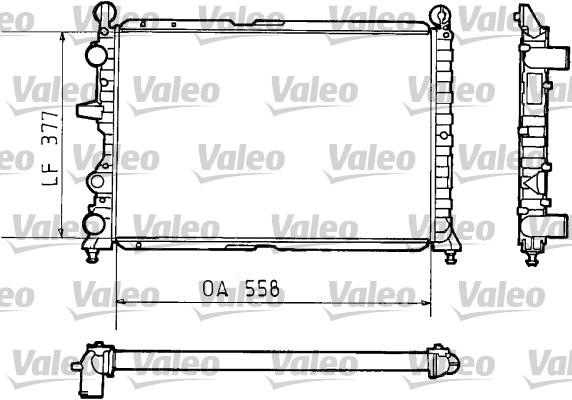 Radiateur, refroidissement du moteur - VALEO - 811073