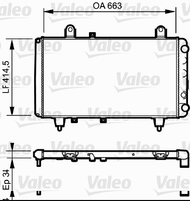 Radiateur, refroidissement du moteur - VALEO - 811380