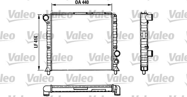 Radiateur, refroidissement du moteur - VALEO - 811389