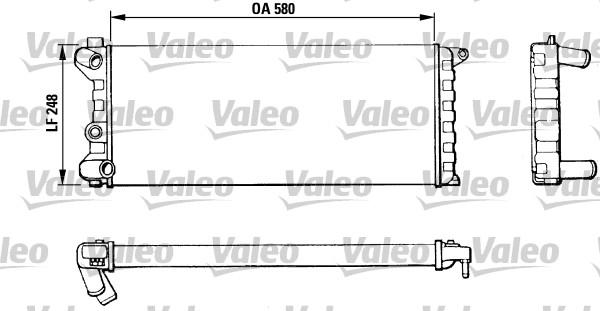 Radiateur, refroidissement du moteur - VALEO - 811392
